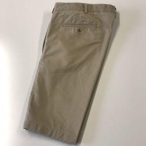 LANDS END Mens Khaki Cotton Shorts 42